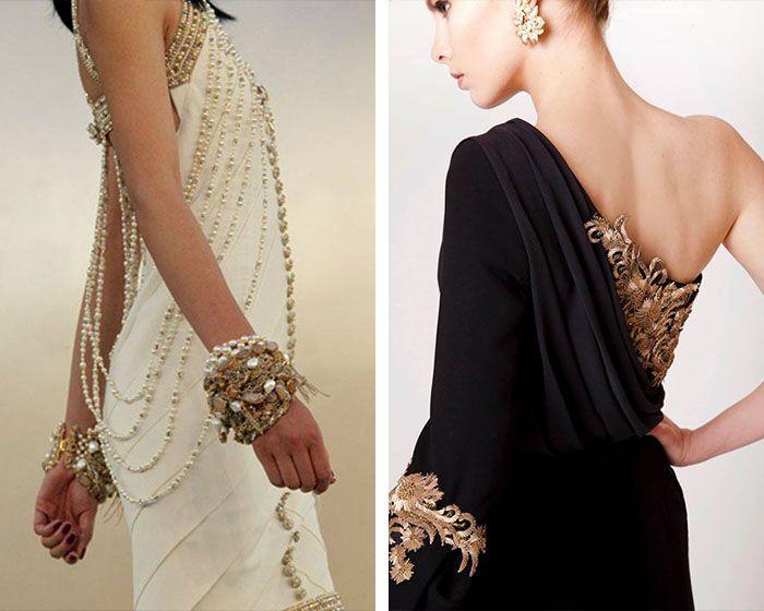 Vestido negro blanco boda