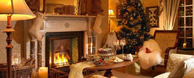 La chimenea en Navidad