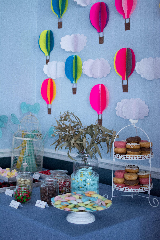 Mesa dulce globos
